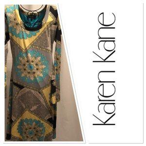 Karen Kane Womens Paisley Print Dress Size L
